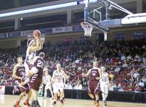 Kelsey Allen lays it up