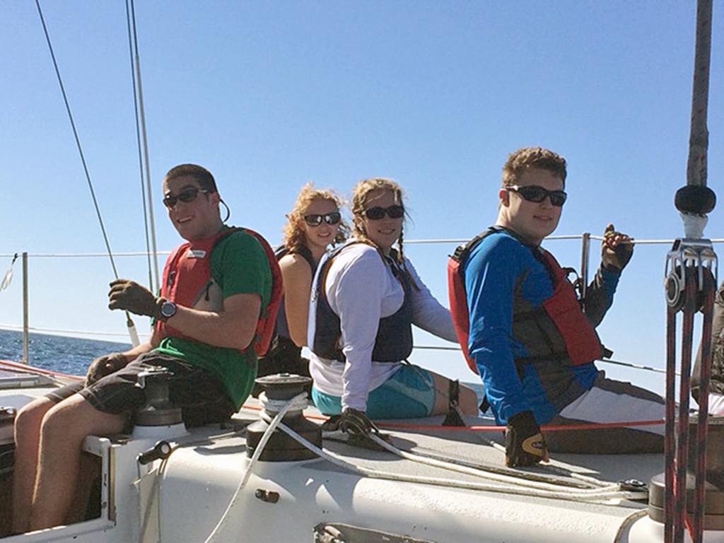 Maine Maritime Academy sailing team members