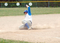 Ethan Shepard slides into third
