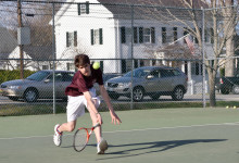 Eagles' Tate Yoder plays first singles