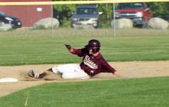 Garrison Looke slides into second