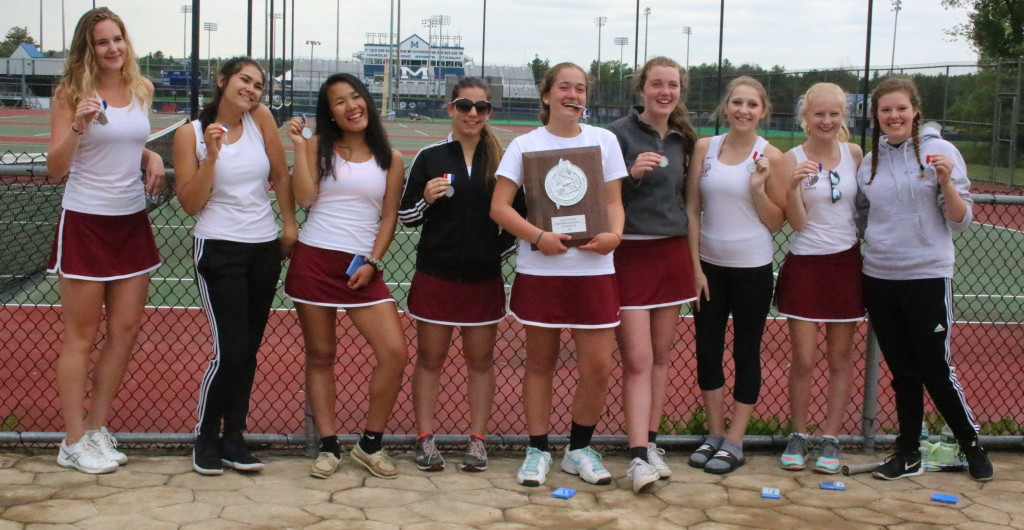 The Lady Eagles came in second in Class C North girls tennis. Photo by Monique Labbe
