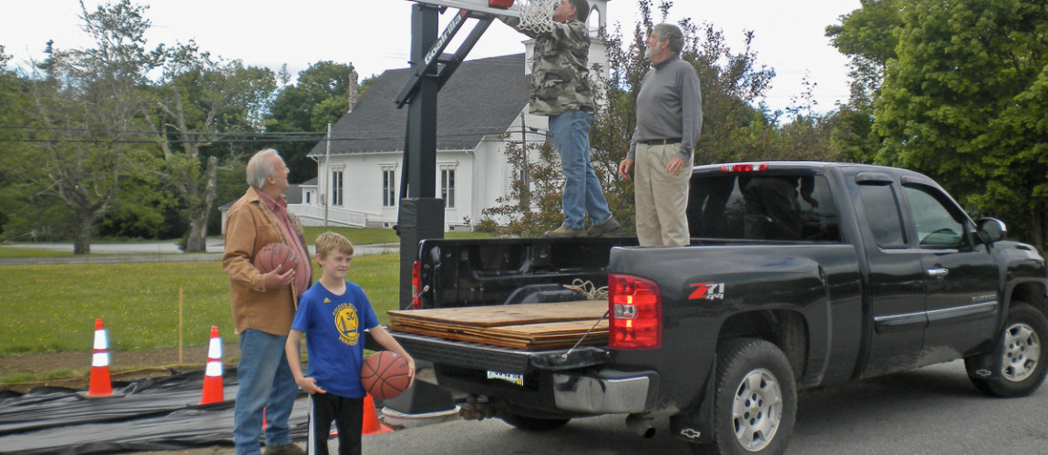 A basketball gift to the community from the community