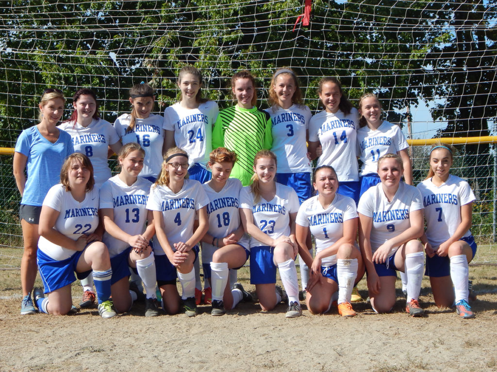 The 2016 Deer Isle-Stonington varsity girls soccer team