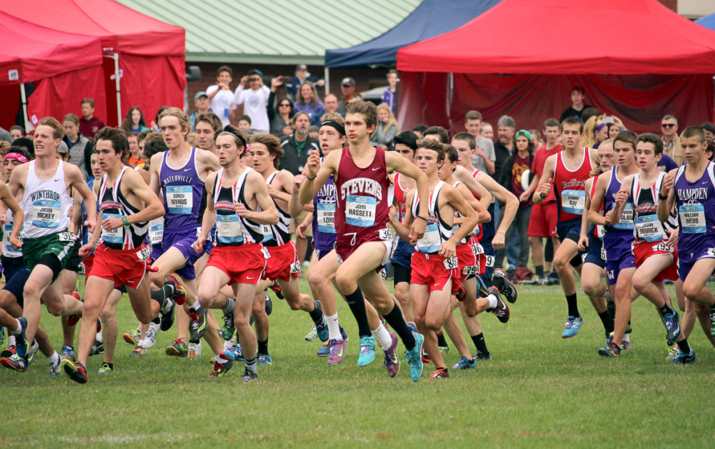 The start of the 345 seeded boys