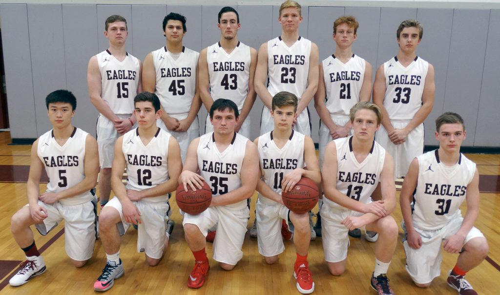 The GSA Boys Varsity Basketball Team