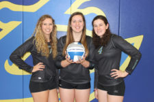 Maine Maritime volleyball team members