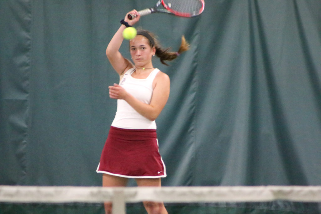 First singles player Lindsay Nevins