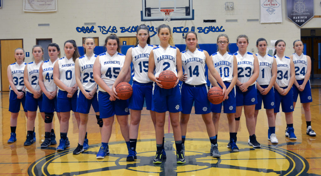The Deer Isle-Stonington Girls Varsity Basketball Team