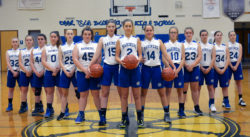 The Deer Isle-Stonington Girls Varsity Basketball Team